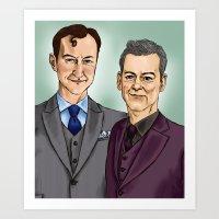 Mycroft & Lestrade Art Print