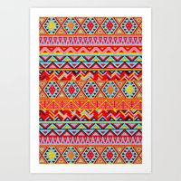 India Style Pattern (Multicolor) Art Print
