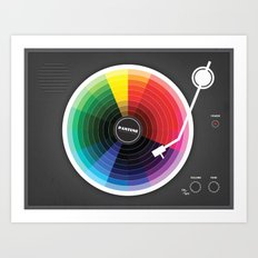 Pantune - The Color of Sound Art Print