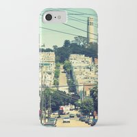 san francisco iPhone & iPod Cases featuring San Francisco by Mr and Mrs Quirynen