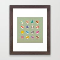 How to Tell Poison Mushrooms Framed Art Print
