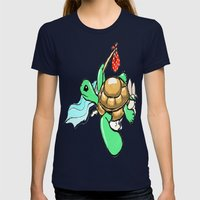Turtle Womens Fitted Tee Navy SMALL