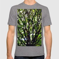 Leaves And Branches 3 Mens Fitted Tee Tri-Grey SMALL