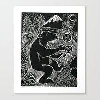 Bear Dancer Canvas Print