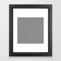 WHITE DOT Framed Art Print