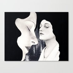 black hair Canvas Print
