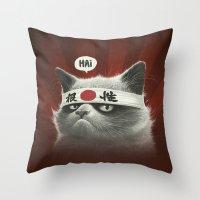 Hai! Throw Pillow