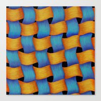 Woven - Pattern Painting Canvas Print