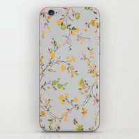 Vintage Floral Vines - S… iPhone & iPod Skin