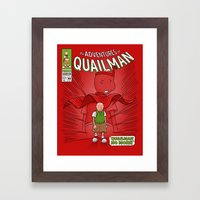 Quailman No More! Framed Art Print