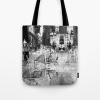 Summer space, smelting selves, simmer shimmers. 22, grayscale version Tote Bag