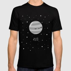 Pluto Black SMALL Mens Fitted Tee