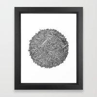 Circle / Lines / Globe Framed Art Print