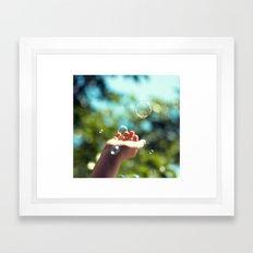 Bubble in hand. Framed Art Print