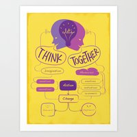 Let's Think Together!  Art Print