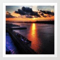 Sunset In New York City … Art Print