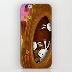 Bunny tree iPhone & iPod Skin