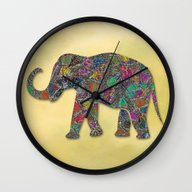 Animal Mosaic - The Elep… Wall Clock
