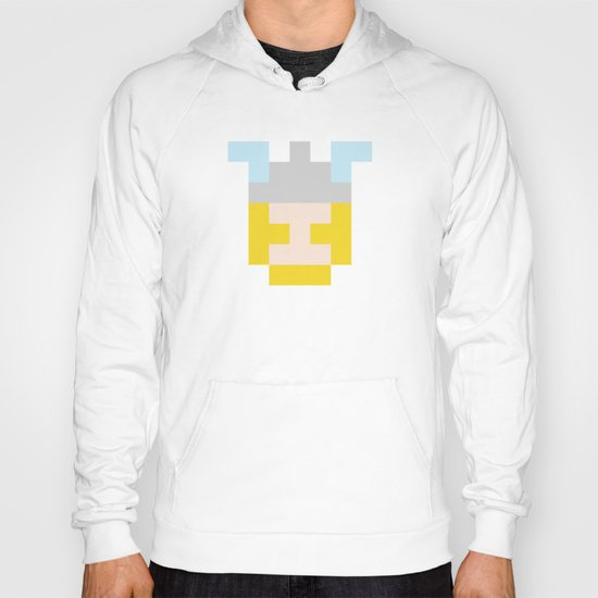 hero pixel flesh yellow grey Hoody