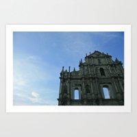Macau's Ruins Of St Paul… Art Print