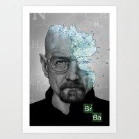 Walter White/Breaking Ba… Art Print