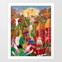 Playboys and Geishas in Old Los Angeles Art Print