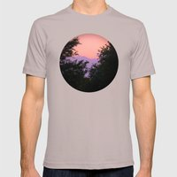 Clouds As Mountains Circular Mens Fitted Tee Cinder SMALL