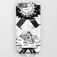 iPhone & iPod Case featuring Sun / Pyramid walker combo by Andy Detskas