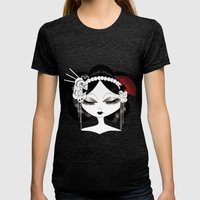 Early Snow Womens Fitted Tee Tri-Black SMALL