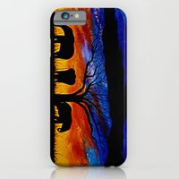 iPhone & iPod Case featuring Sunset Elephants by Patrickcollin