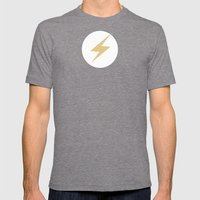 The Flash Vector Logo Mens Fitted Tee Tri-Grey SMALL