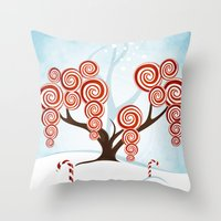 Magic Candy Tree - V3 Throw Pillow