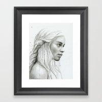 Daenerys Targaryen Portr… Framed Art Print