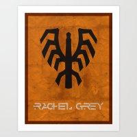 Minimalist Rachel Grey Art Print