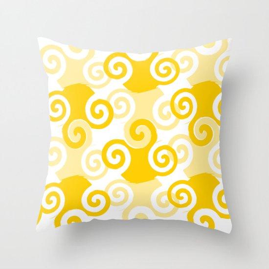 Swirled Throw Pillow