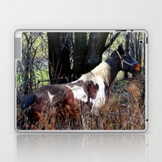 Horse with Blue Bridle Laptop & iPad Skin