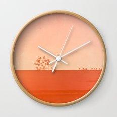 Red Wall Wall Clock