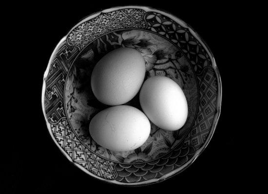 Still Life with Eggs in Black & White Art Print