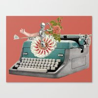 Type Flowers And Death Canvas Print