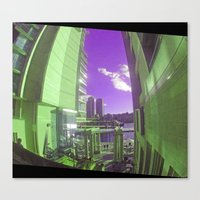 Between Two Towers Canvas Print