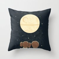 Moon Gazing Throw Pillow