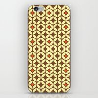 Repeated Retro - brown iPhone & iPod Skin