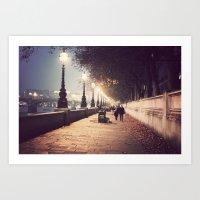 London Stroll  Art Print