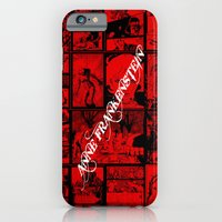 iPhone Cases featuring RED - Anne Frankenstein Book I - Resurrection  by Lazy Bones Studios