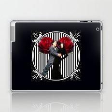 Gomez and Morticia Striped Round Laptop & iPad Skin