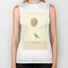bird with a balloon Biker Tank