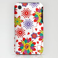 iPhone & iPod Case featuring Cute Flowers #DS1 by Luizavictorya72