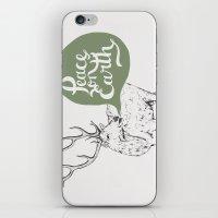 Christmas Carol Elk iPhone & iPod Skin