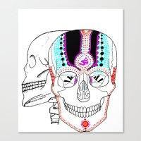 Rainbow Skulls Canvas Print