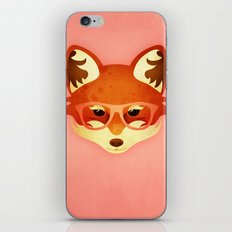 Hipster Fox: Rose iPhone & iPod Skin